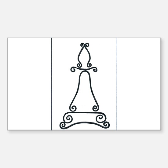 Chess Bishop Logo Rectangle Decal