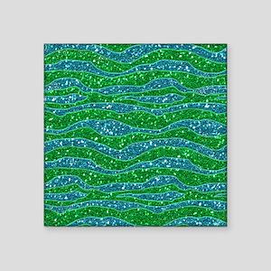 Glitters Zebra Stripes Glitters Green Glitters Blu