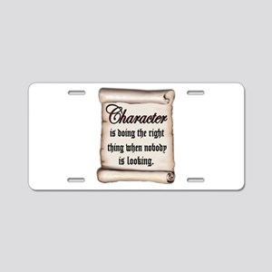 CHARACTER Aluminum License Plate