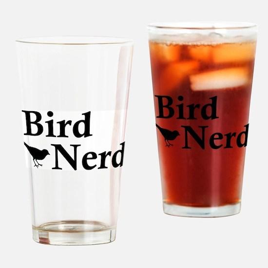 Cute Bird nerd Drinking Glass