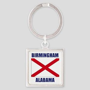 Birmingham Alabama Square Keychain