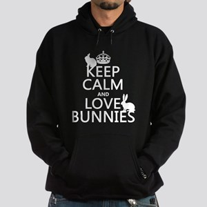 Keep Calm and Love Bunnies Hoody