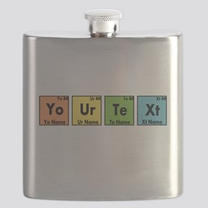 Personalized Your Text Periodic Table Nerd S Flask