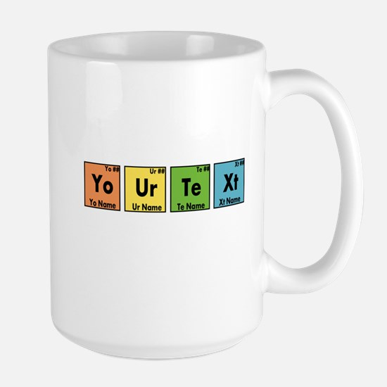 Personalized Your Text Periodic Table N Large Mug