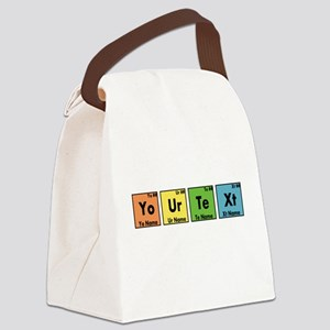 Personalized Your Text Periodic T Canvas Lunch Bag