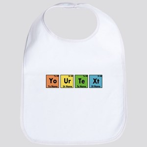 Personalized Your Text Periodic Table Nerd Spe Bib