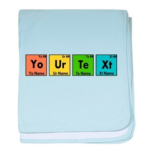 Chemistry periodic table baby blankets cafepress urtaz Images