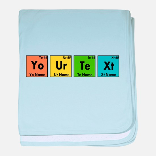 Personalized Your Text Periodic Table baby blanket