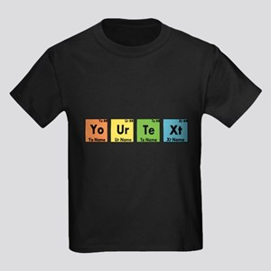 Personalized Your Text Periodic Kids Dark T-Shirt