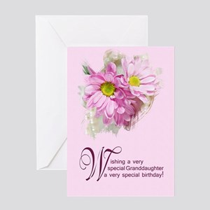 For a granddaughter, a birthday card with daisies