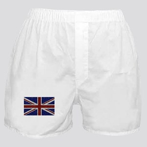 Glitters Shiny Sparkle Union Jack Flag Boxer Short