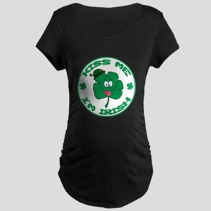 Kiss me Im Irish 3 Maternity T-Shirt
