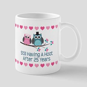25th Anniversary Owl Gift Mugs