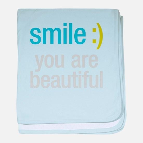 Smile Beautiful baby blanket