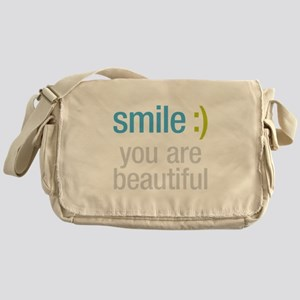 Smile Beautiful Messenger Bag