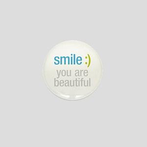 Smile Beautiful Mini Button