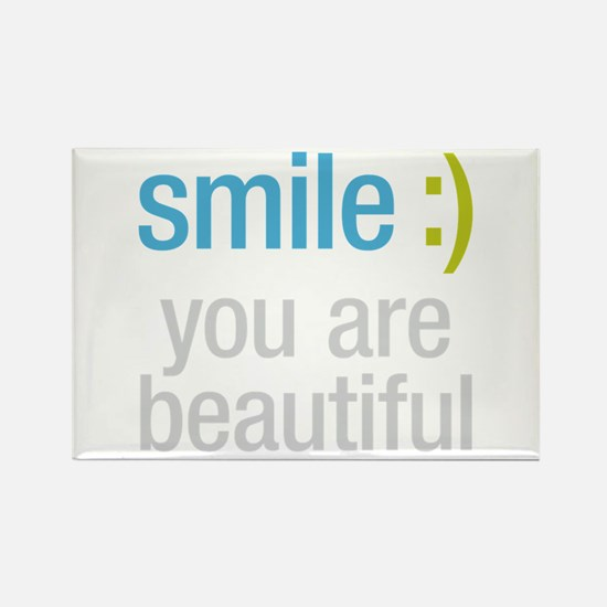 Smile Beautiful Rectangle Magnet
