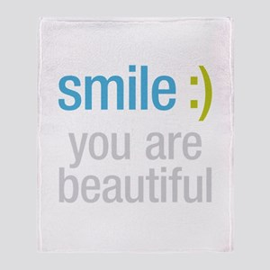 Smile Beautiful Throw Blanket