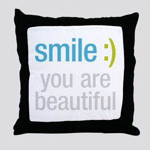 Smile Beautiful Throw Pillow