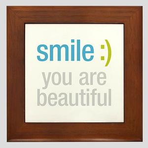 Smile Beautiful Framed Tile