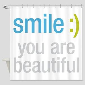 Smile Beautiful Shower Curtain