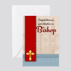 Bishop congratulations greeting cards cafepress congratulations bishop ordination greeting card m4hsunfo