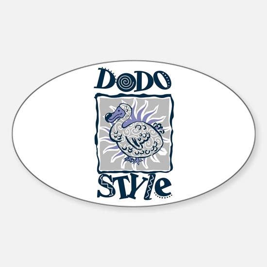 Dodo style Oval Decal