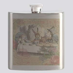 Mad Tea Party Flask