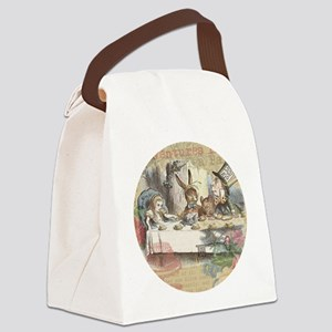Mad Tea Party Canvas Lunch Bag
