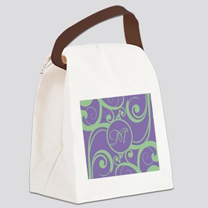 Your Monogram Whimsy Purple Canvas Lunch Bag