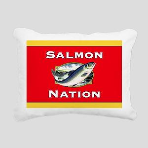 salmon nation flag  Rectangular Canvas Pillow