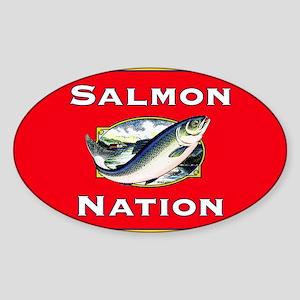 salmon nation flag  Sticker (Oval)