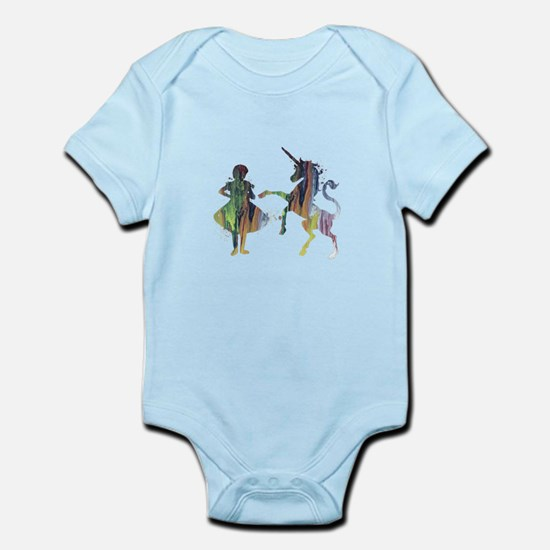 A child and a unicorn Body Suit