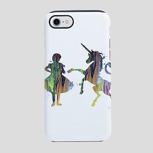 A child and a unicorn iPhone 7 Tough Case