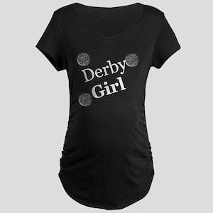 Derby Girl White Maternity Dark T-Shirt