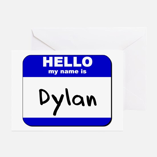 hello my name is dylan  Greeting Cards (Package of
