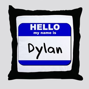 hello my name is dylan  Throw Pillow