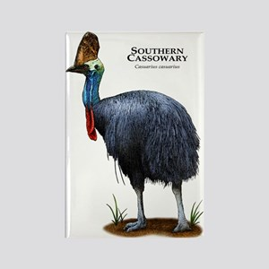 Southern Cassowary Rectangle Magnet