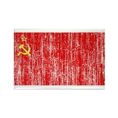 Retro Soviet Union Flag Rectangle Magnet