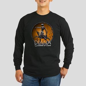 Diana Goddess of Hunt Long Sleeve Dark T-Shirt
