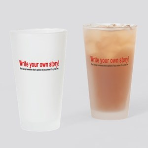 Write Your Own Story Drinking Glass