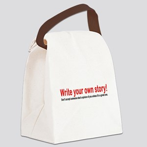 Write Your Own Story Canvas Lunch Bag
