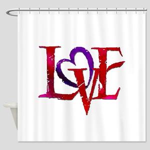 Love words Shower Curtain
