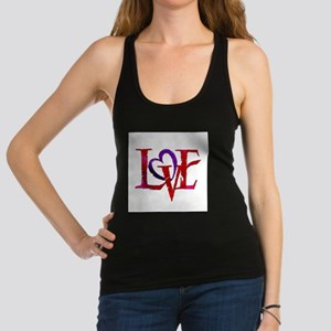 Love words Racerback Tank Top