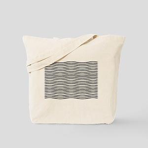 Dreamy Black Waves Tote Bag