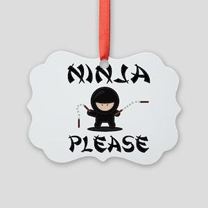 Ninja Please Ornament