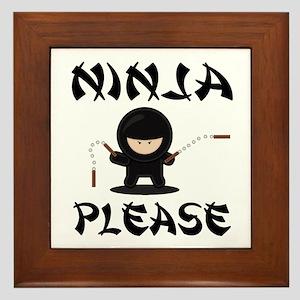 Ninja Please Framed Tile