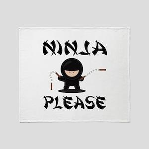Ninja Please Throw Blanket