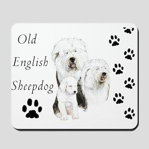 Sheepdog prints Mousepad