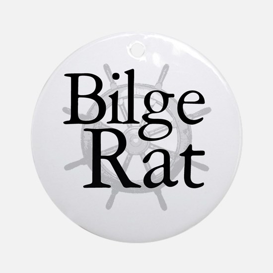 Bilge Rat Pirate Caribbean Ornament (Round)